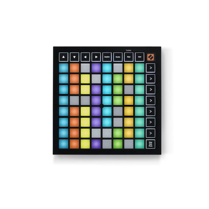 Top down view of a Novation Launchpad Mini MK3 USB MIDI Controller
