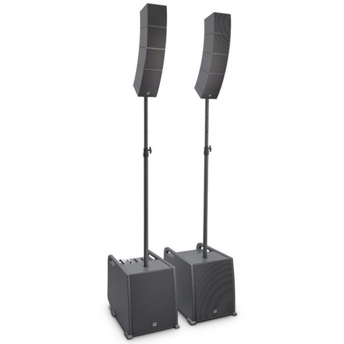 Front angled view of a LD Systems CURV 500 PS Portable Array System Power Set