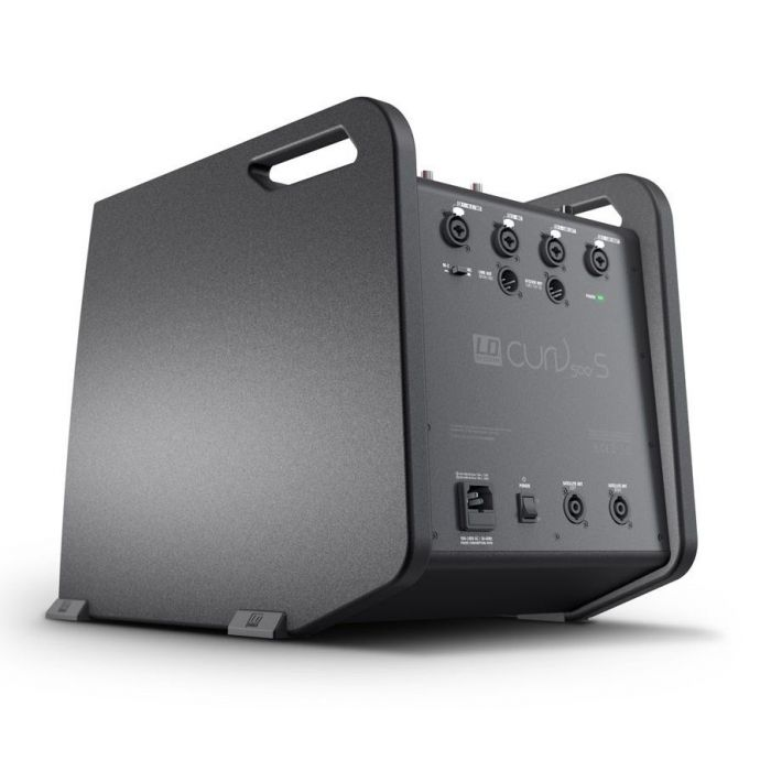 Rear-angled view of the subwoofer from a LD Systems CURV 500 PS Portable Array System Power Set
