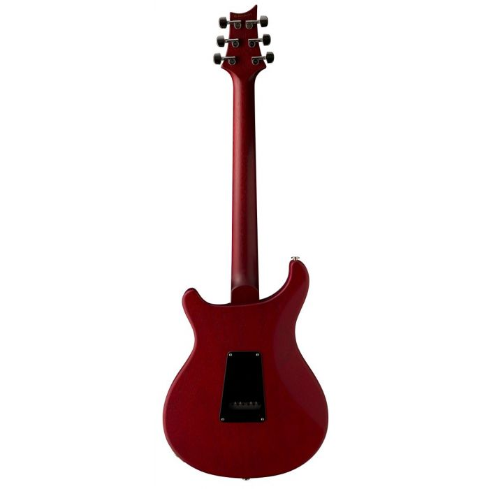 Full rear-sided view of a PRS S2 Satin Standard 22 Electric Guitar Vintage Cherry
