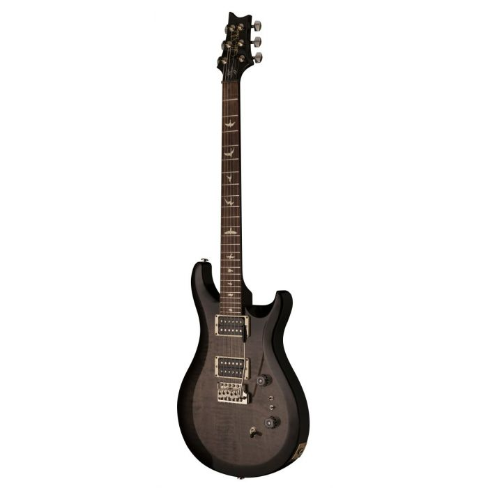 Front angled view of a PRS 35th Anniversary S2 Custom 24 Elephant Gray