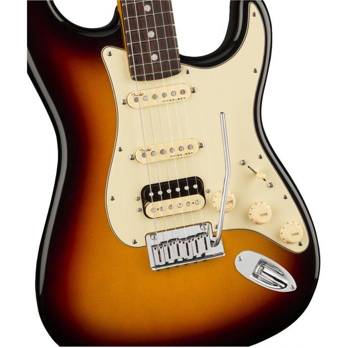 Fender American Ultra Stratocaster HSS RW Ultraburst Body Detail