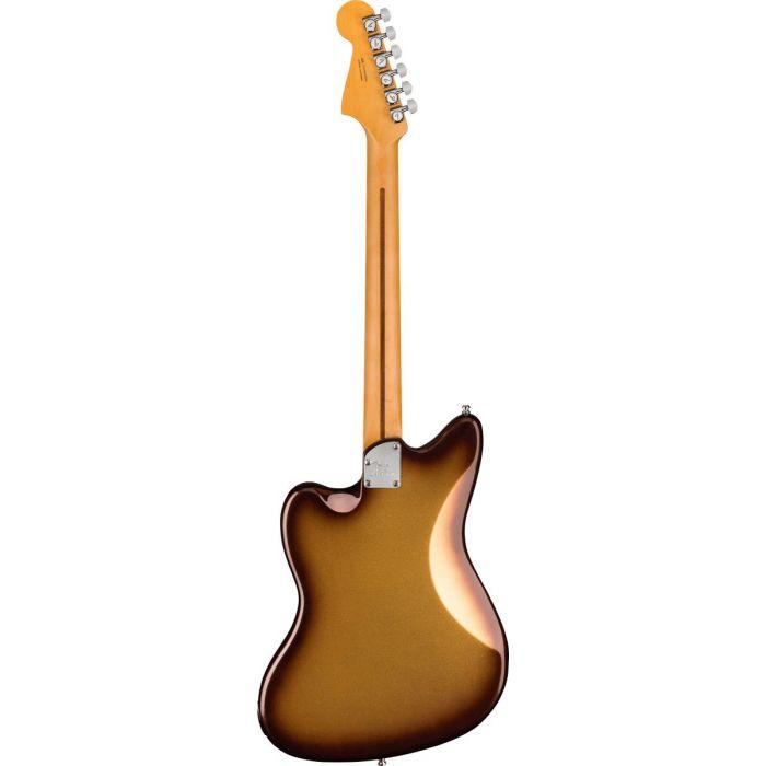 Full rear-sided view of a Fender American Ultra Jazzmaster RW Mocha Burst