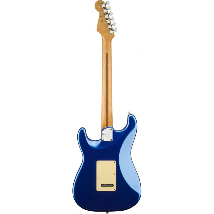 Rear View of Fender American Ultra Stratocaster MN Cobra Blue