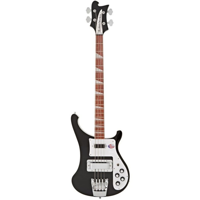 Full frontal view of a Rickenbacker 4003 Electric Bass Guitar in a Jetglo finish