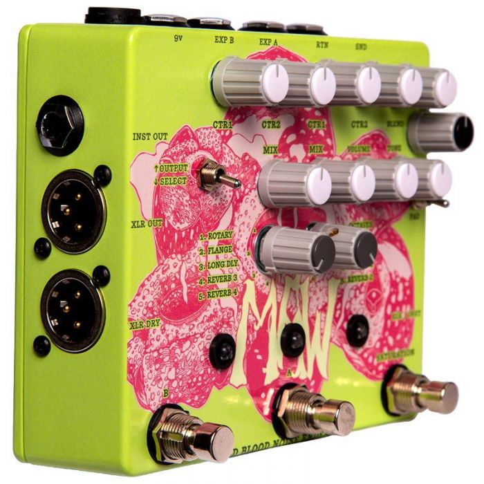 Left angled view of a Old Blood Noise Endeavours MAW Vocal effects Pedal