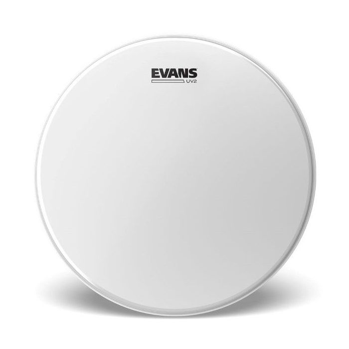 Full view of an Evans UV2 Coated Drumhead 14 Inch