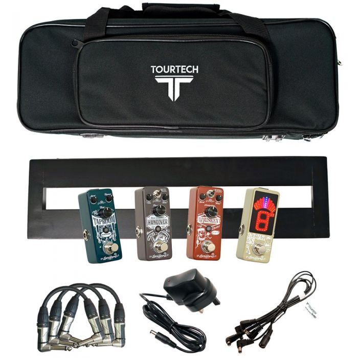 Full view of a Landlord FX Starter Pack with Pedalboard