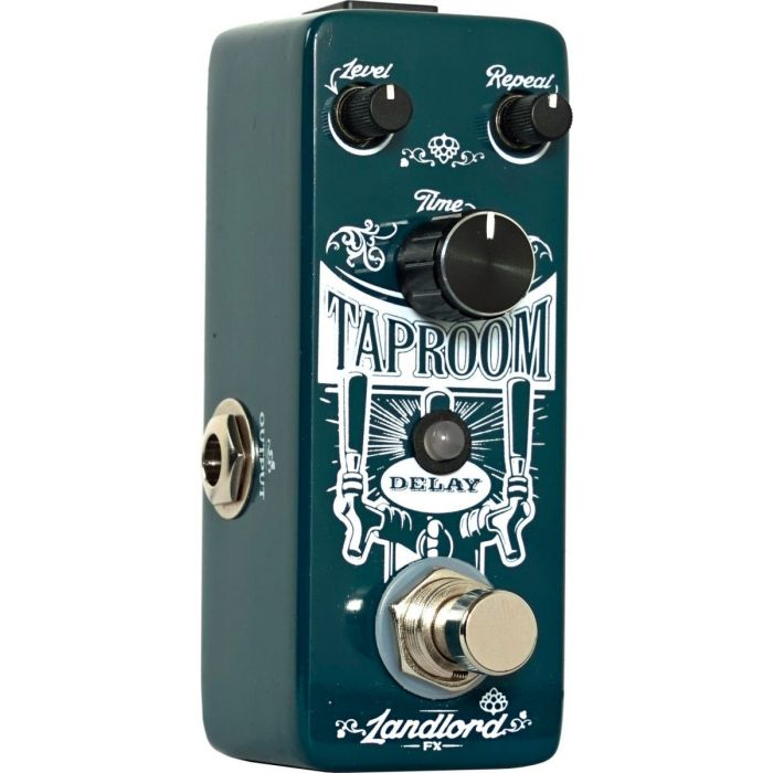 Closeup view of the Landlord FX Taproom delay pedal