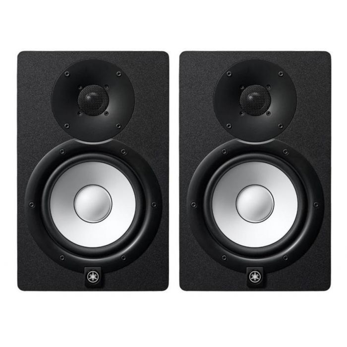 Full front view of a Yamaha HS7 Active Studio Monitor Black (Pair)