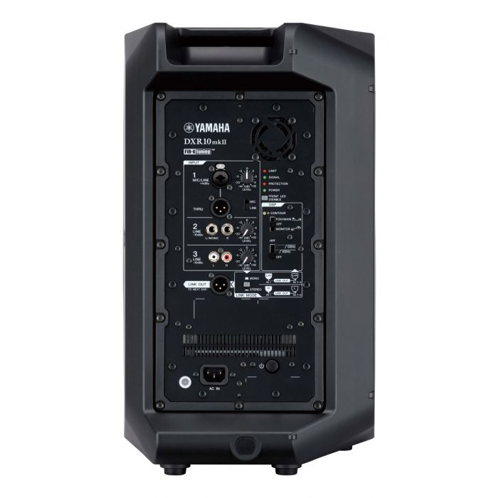 Rear View of Yamaha DXR10 MKII Powered PA Speaker