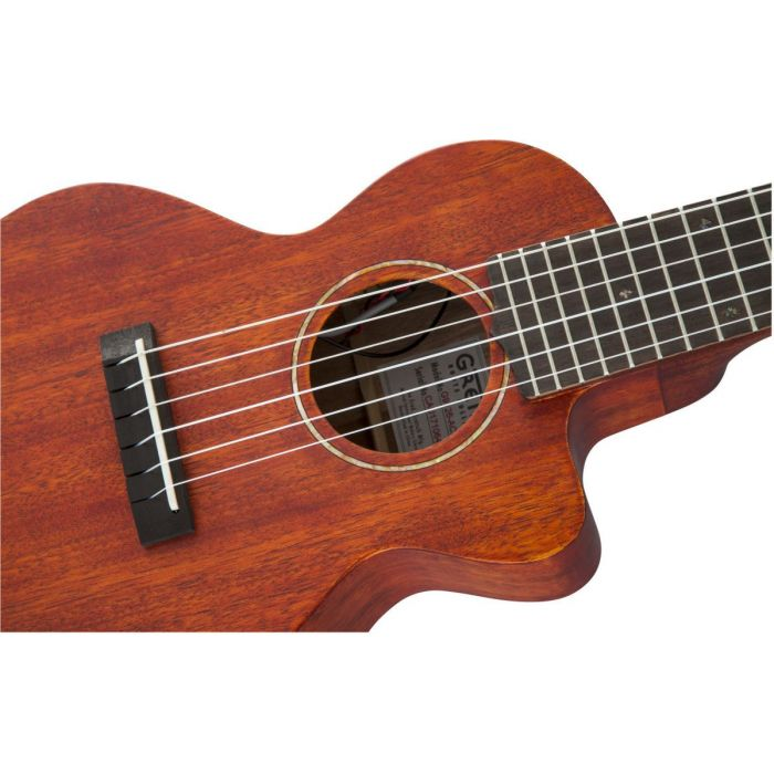 Mahogany finish ukulele with Fishman