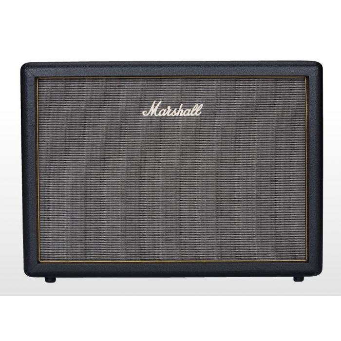 Front view of a 2x12 guitar cabinet from the Marshall Origin lineup