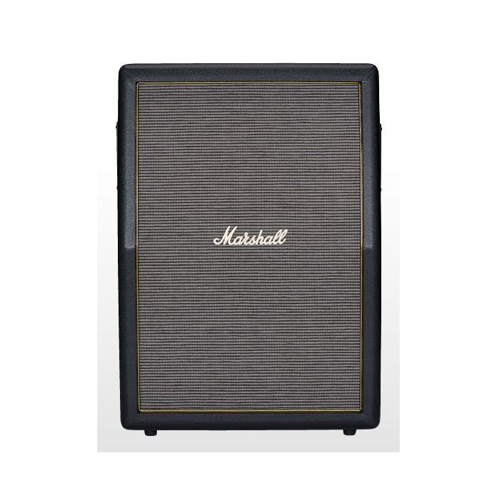 """Main view of a 2 x 12"""" Stacked angled guitar cabinet from the Marshall Origin series"""