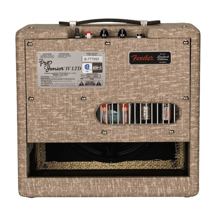 Back view of Fender Pro Junior IV in Fawn