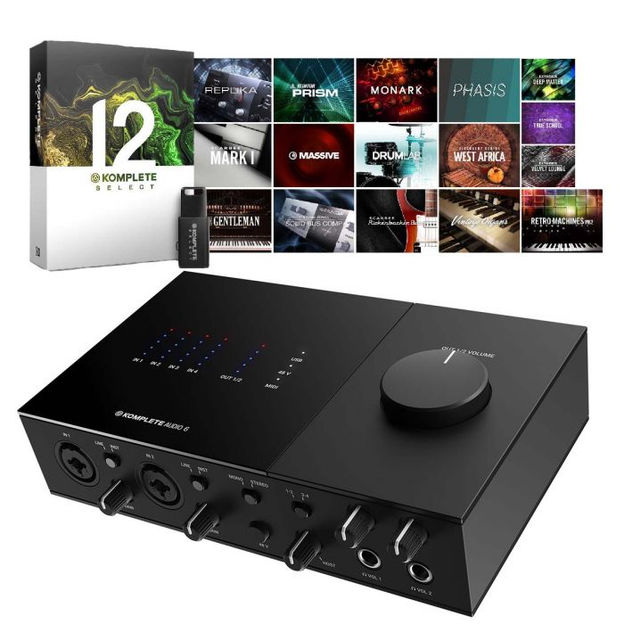 Native Instruments Komplete Audio 6 with Komplete 12 Select
