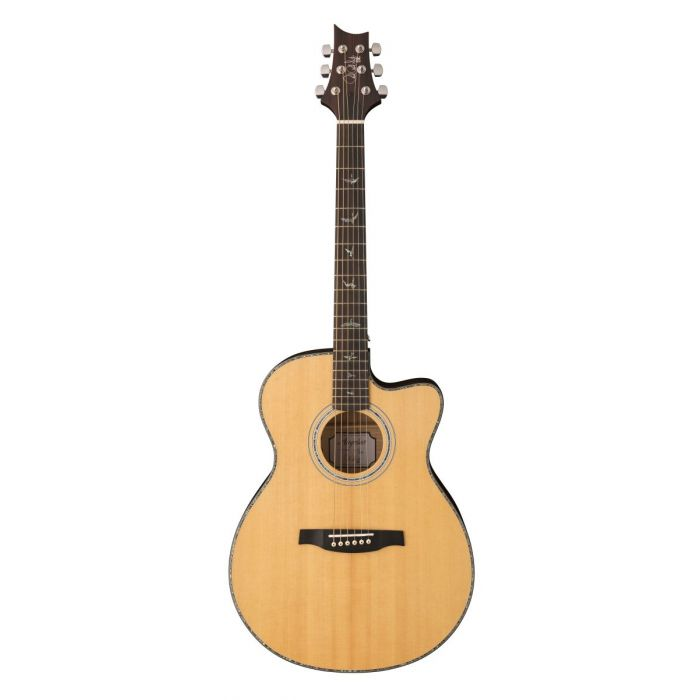 PRS SE Series Angelus acoustic guitar with a Black Gold Burst finish to the back and sides