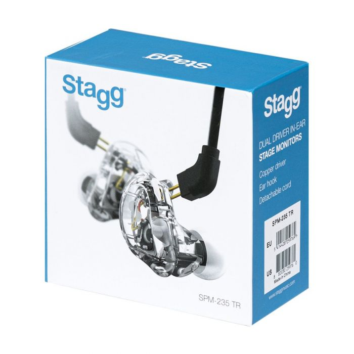 Stagg SPM-235 HR,Sound-isolating In-Ear-Monitors Outer Box