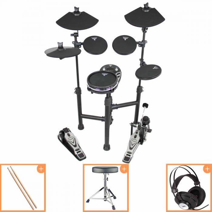 Tourtech TT-12SM Electronic Drum Kit Bundle