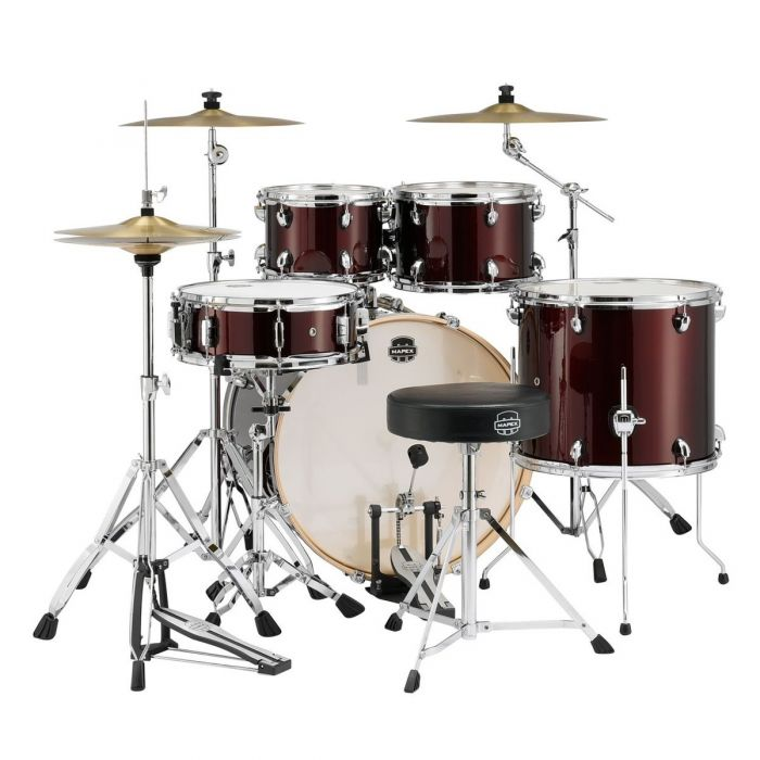 Rear View of Mapex Limited Edition Storm Drum Kit in Red