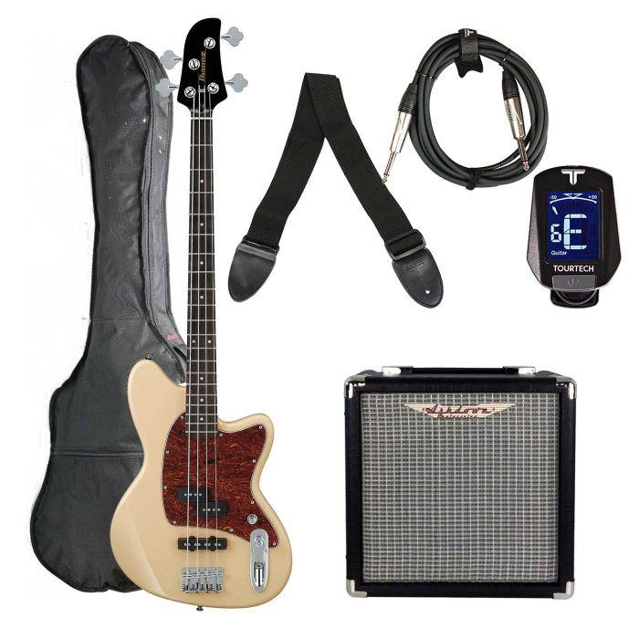 Ibanez TMB100-IV Talman Bass Guitar Starter Pack, Ivory