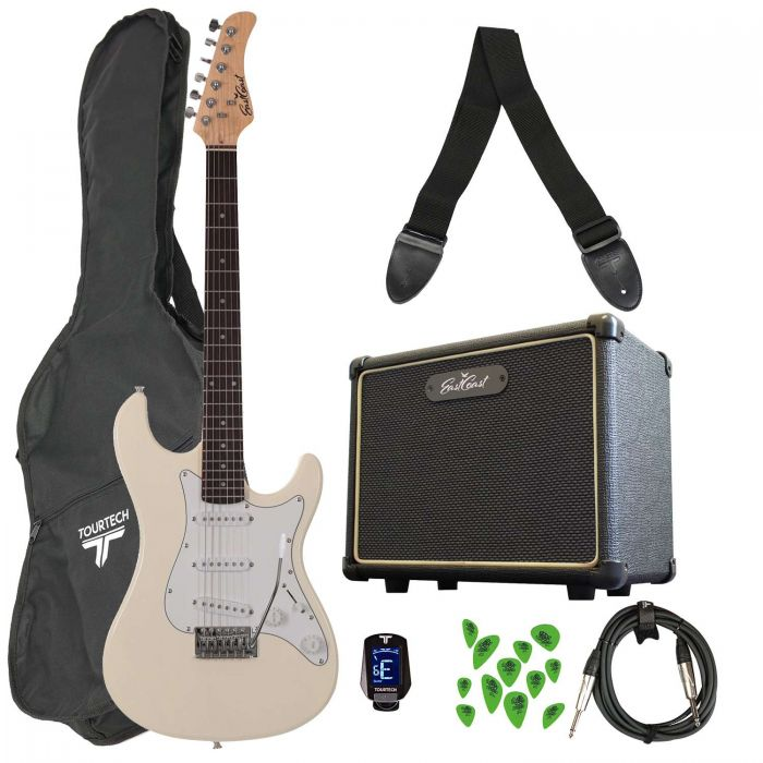 Eastcoast GS100 Electric Guitar Starter Pack White