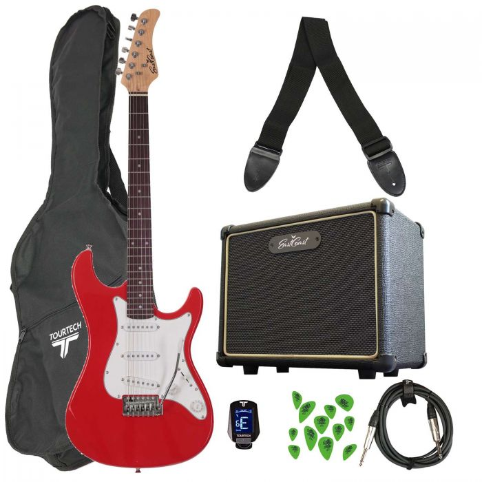 Eastcoast GS100 Electric Guitar Starter Pack Red