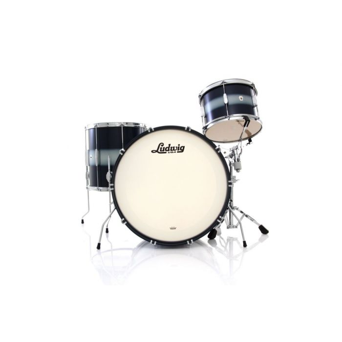 Ludwig Club Date 3 Piece Shell Pack in Silver Blue Duco