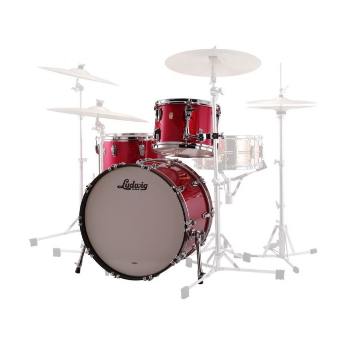 Ludwig Custom Maple FAB 22 Shell Pack Front View
