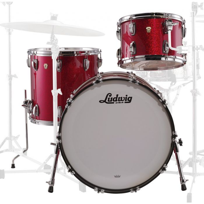 Ludwig Classic Maple Downbeat in Red Front