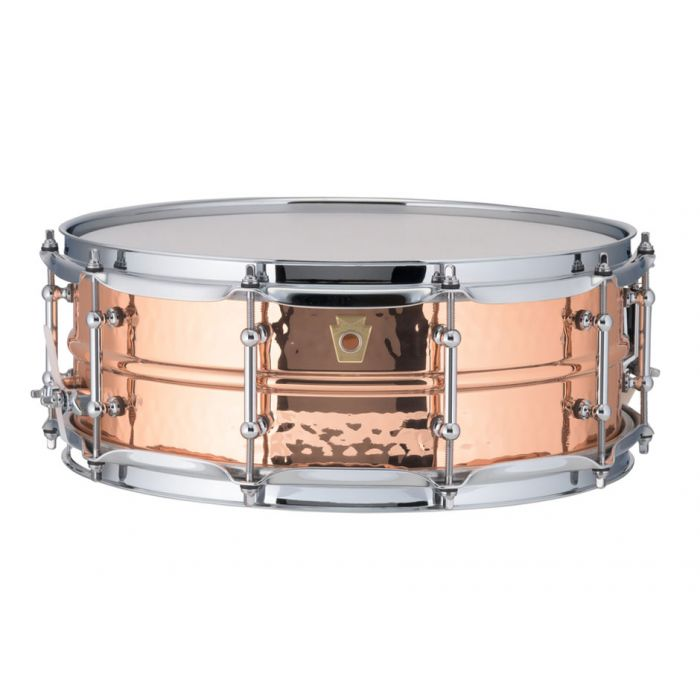 "Ludwig Hammered Copper Phonic 14"" x 5"" Snare Front View"