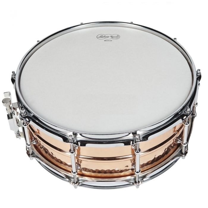 "Ludwig Hammered Copper Phonic 14"" x 5"" Snare Top View"