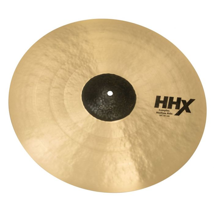 Angled View of Sabian HHX 20 inch Complex Medium Ride Cymbal