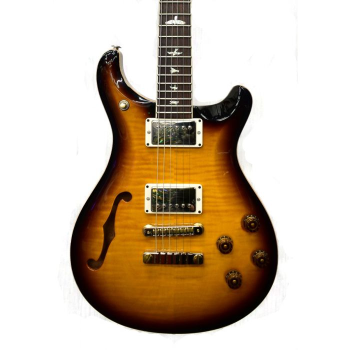 Semi Hollow PRS McCarty 594 electric guitar with a McCarty Tobacco Sunburst finish