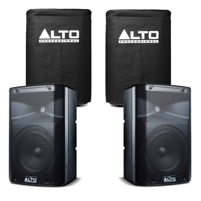 Alto TX208 Active Speaker Pair with Covers
