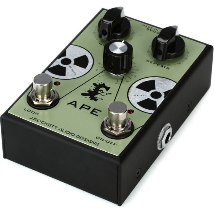 Angled View of J  Rockett APE Preamp Pedal