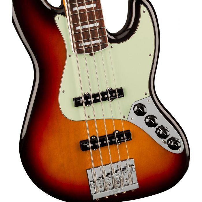 Body Detail of Fender American Ultra Jazz Bass V