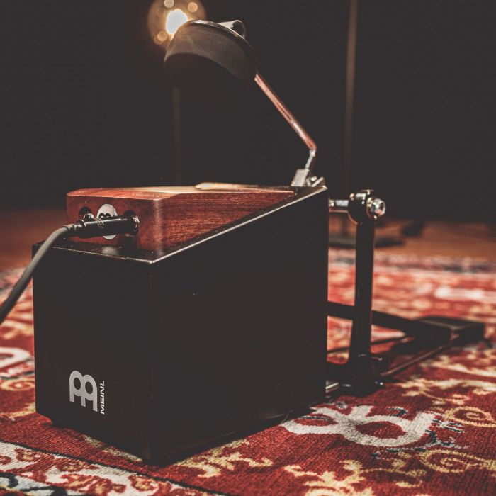Meinl MPSM Percussion Stomp Box Mount In Use