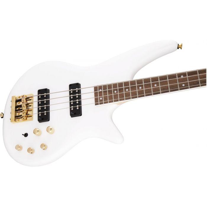 Jackson JS Spectra Bass JS3 Snow White Right Body