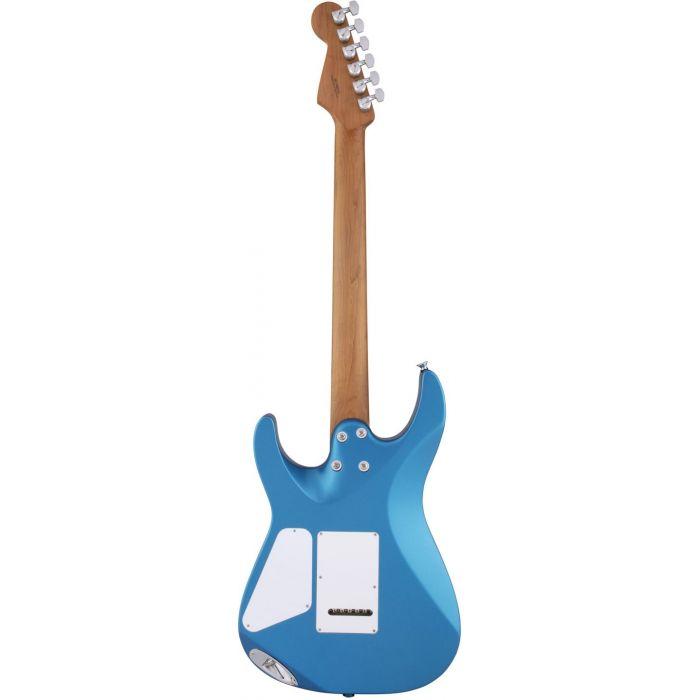 Charvel PM DK22 SSS 2PT CM Caramelized Electric Blue Back