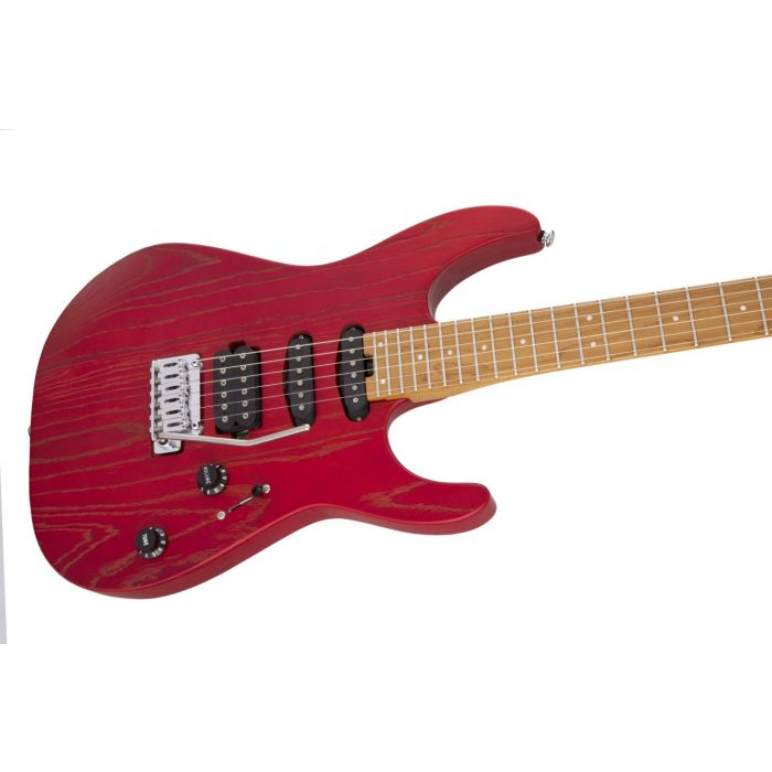 Charvel PM DK24 HSS 2PT CM Ash Caramelized Red Ash Right Body