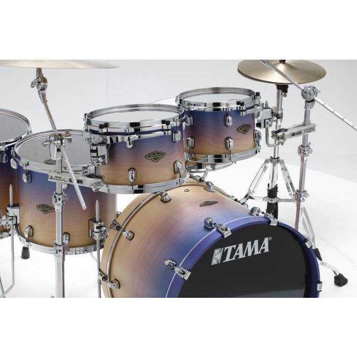 Tama Starclassic Walnut Birch 5pc Drum Shell Pack Satin Purple Atmosphere Fade