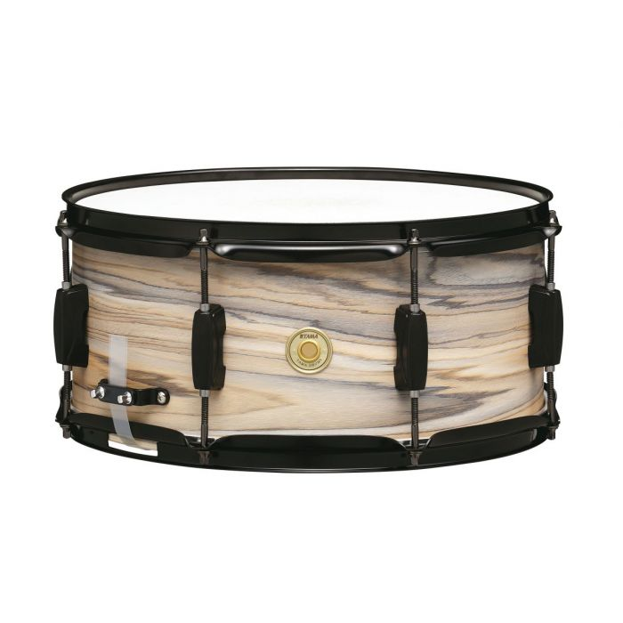 "Tama Woodworks 14"" x 6.5"" Snare in Natural Zebra Wood"