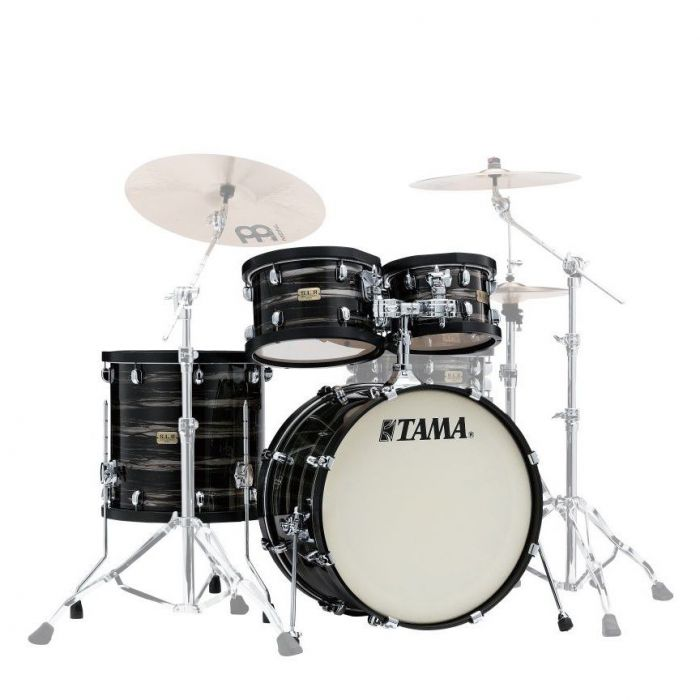Tama SLP Studio Maple 4-Piece Shell Pack Lacquered Charcoal Oyster
