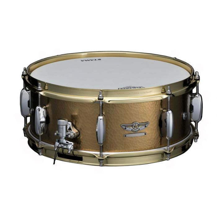 Tama Star 14 x 5.5 Hand Hammered Brass Snare Front