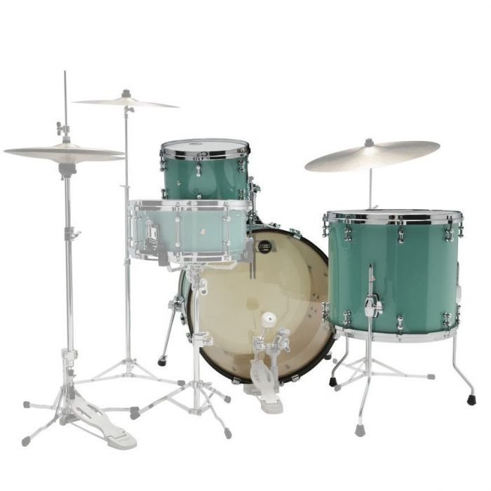Rear View of Tama SLP Fat Spruce Drum Kit