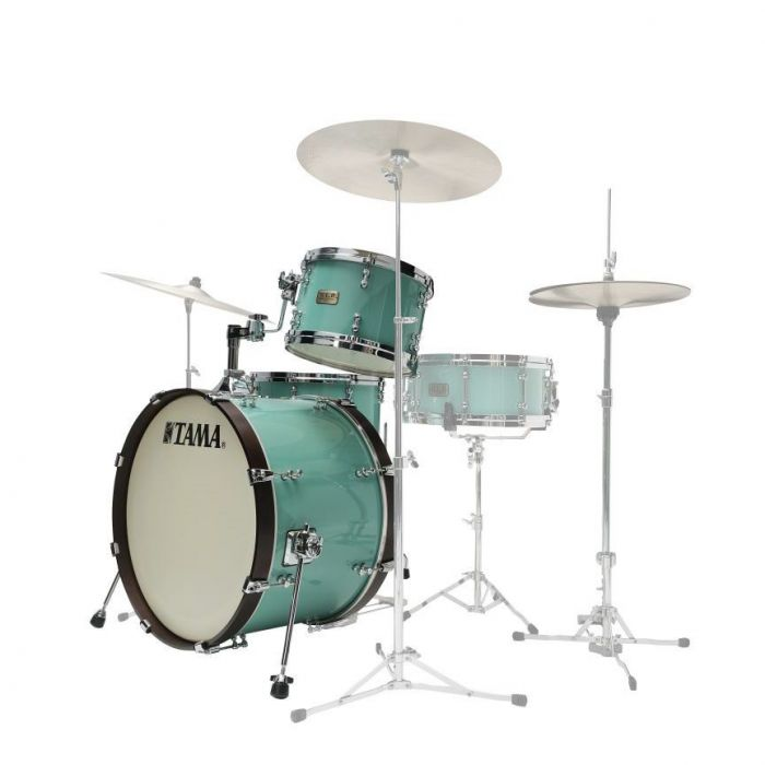 Side View of Tama SLP Fat Spruce Drum Kit