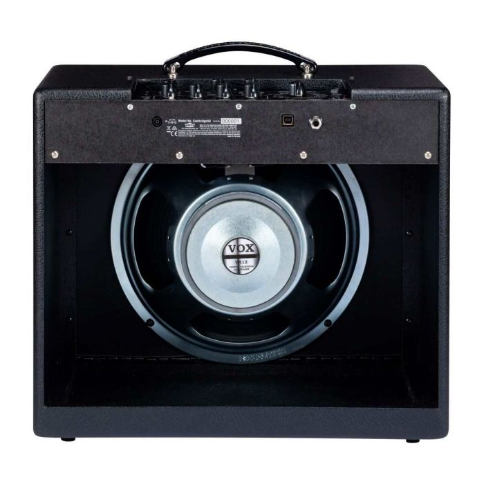 Rear of Vox Guitar Amplifier with Speaker Visible