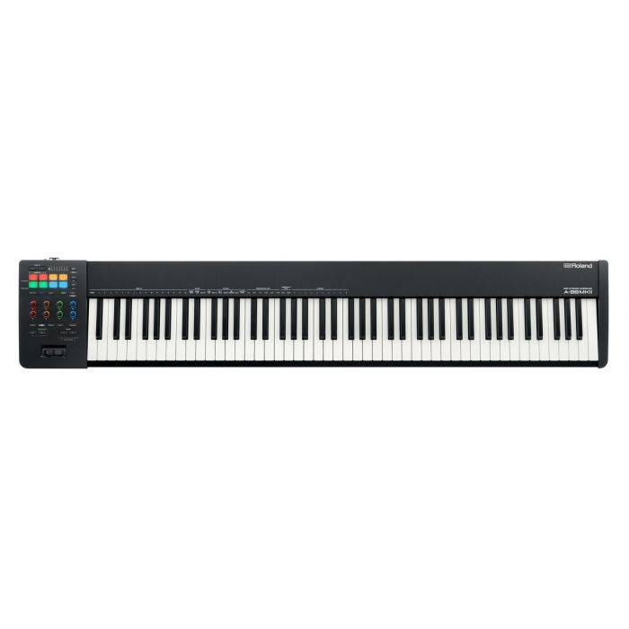 Full view of a Roland A-88MKII Midi Keyboard Controller