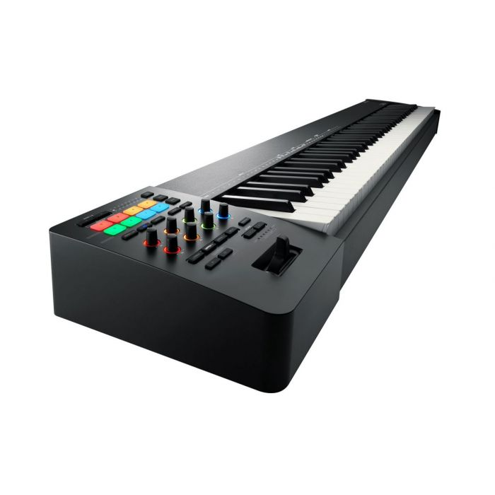 Angled view of a Roland A-88MKII MIDI Keyboard Controller